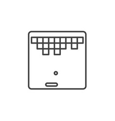 retro computer game icon in thin line style vector image
