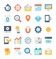 SEO and Marketing Icons 7 vector