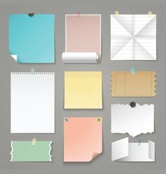 set torn paper backgrounds vector image