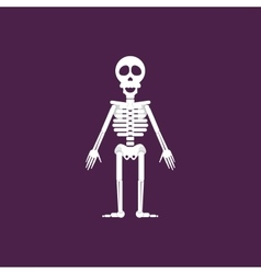 Skeleton for halloween in a flat style vector image