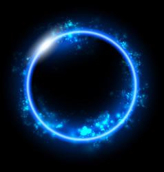 Space background futuristic geometric dark blue vector