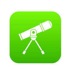 Space telescope icon digital green vector