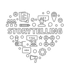 Storytelling concept heart in vector