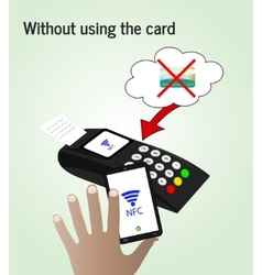 The NFC technologyThe concept of mobile payments vector image