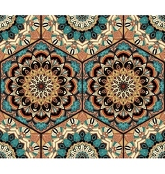 Tile Honey Comb Hex Pattern Flower Mandala vector
