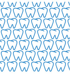 tooth pattern background vector image