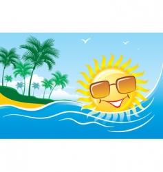 tropical marine landscape vector image