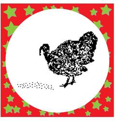turkey black 8-bit dog standing vector image