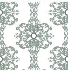 Vintage baroque damask floral pattern vector