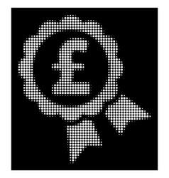 white halftone featured pound price label icon vector image