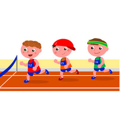 Young runners competition vector
