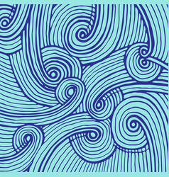 abstract background of doodle hand drawn lines vector image