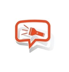 Flashlight message sticker orange vector image