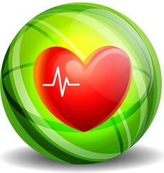 Heartbeat icon concept vector image