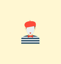 mime icon flat element of vector image vector image