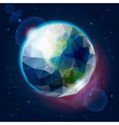 Earth globe as an icon vector image vector image
