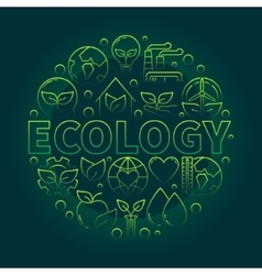 Ecology green symbol vector image vector image