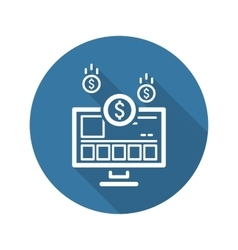 Income Store Icon Business Concept vector image