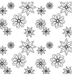 seamless pattern flower natural decoration vector image vector image
