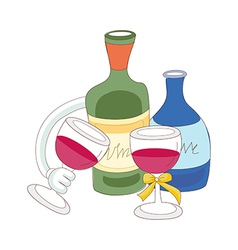 A view of drinks vector image