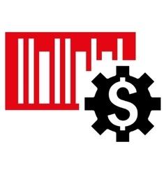 Barcode Price Setup Flat Icon vector image vector image