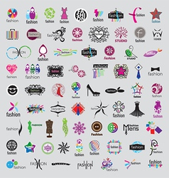 biggest collection of logos of fashion vector image vector image