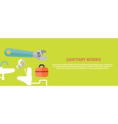 Sanitary works vector image