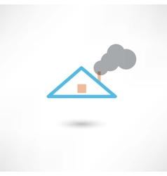 smoke from the chimney vector image