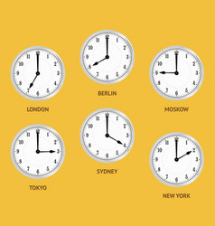 World time zones vector