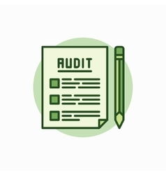 Audit documents green icon vector image vector image
