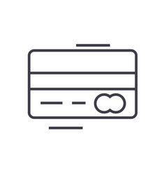 credit card line icon sign vector image vector image