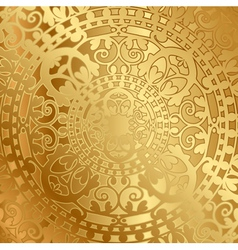 gold background with oriental decoration vector image vector image