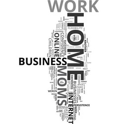 Work at home moms text word cloud concept vector