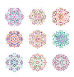 Abstract flower pattern mandala ornament floral vector