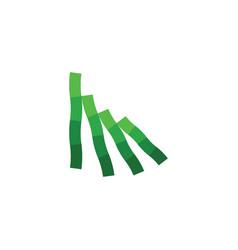 bamboo sticks logo green symbol element vector image