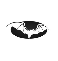 bat in flight wide wings negative space vector image
