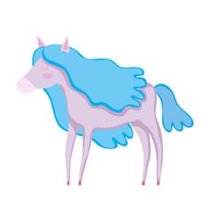 beautiful circus horse character vector image