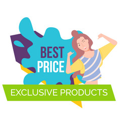 best price exclusive product colorful banner vector image