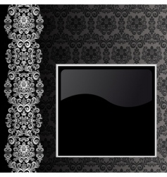 black and silver background vector image