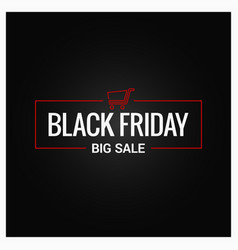 Black friday logo design background vector