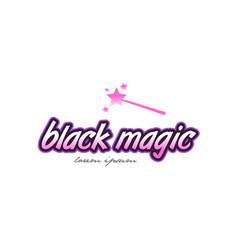 Black magic word text logo icon design concept vector