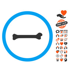Bone icon with dating bonus vector