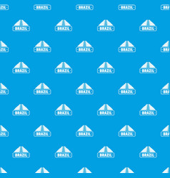 Brazil country pattern seamless blue vector