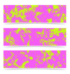 bright dotted pink and green cards collection vector image