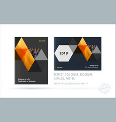 Brochure design triangles template colourful vector