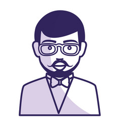 Businessman worker with glasses isolated icon vector