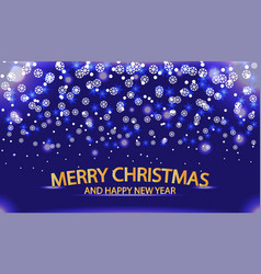 christmas and new year with a winter landscape wit vector image