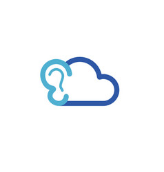 cloud ear logo vector image