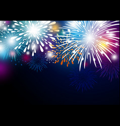 colorful abstract fireworks background design vector image