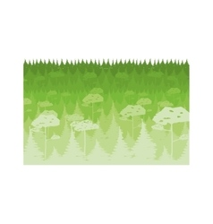 Colorful lanscape with natural forest vector
